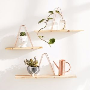 Urban Outfitters rose gold shelf set large